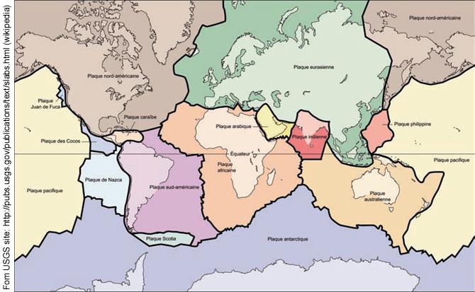 Plaque Tectonique Monde Carte
