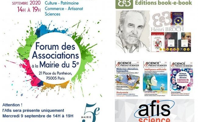 [Paris - 9 septembre 2020] L'Afis au forum des associations du 5e arrondissement